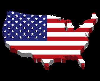 america-flag-map-3d